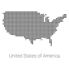 Usa map black dotted design vector