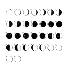 Phases of the moon sketch for your design vector