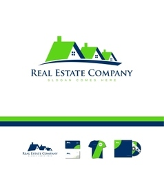 Real estate house company logo icon home vector image