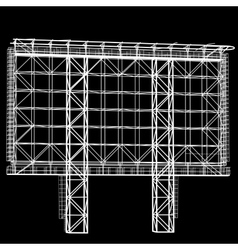 Silhouette of steel structure billboard vector