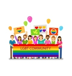 Lgbt community gay parade holiday festival vector