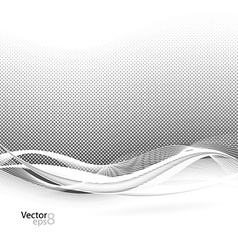 Abstract smooth swoosh line dotted noise vector image vector image