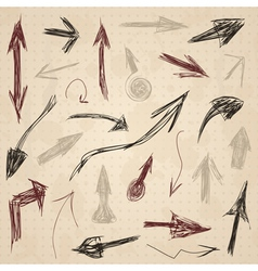 Arrow drawing2 vector image vector image