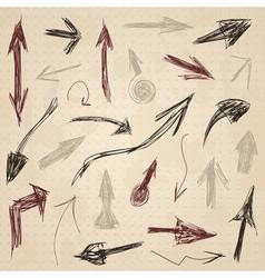Arrow drawing2 vector image