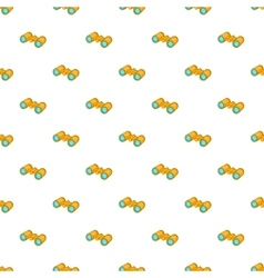 Binoculars pattern cartoon style vector