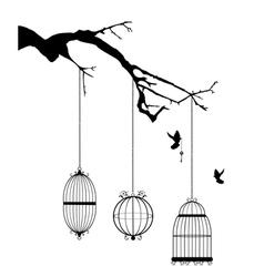 cage branch vector image vector image