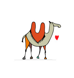camel sketch for your design vector image vector image