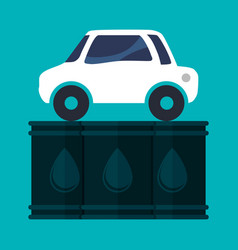 Car vehicle oil barrel vector