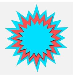 cartoon bubble paper cut vector image vector image