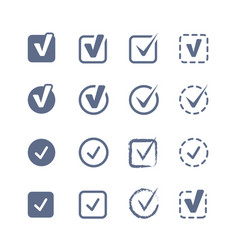 checkboxes set vector image