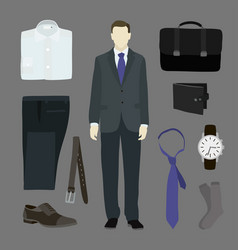 classical businessman clothes vector image vector image