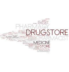 Drugstore word cloud concept vector