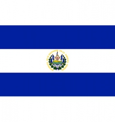 el Salvador flag vector image