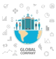 Global Company Concept vector image