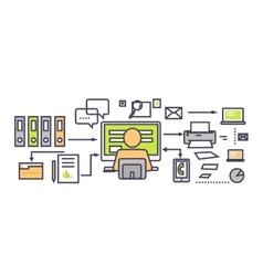 Icon Flat Design Deadline Concept vector image vector image