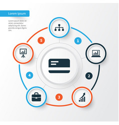 Job icons set collection of payment presentation vector