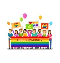 Lgbt community gay parade holiday festival vector