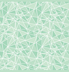 mint green geometric mosaic triangles vector image vector image