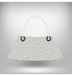 Modern new handbag vector
