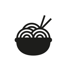 Noodle symbol icon on white background vector