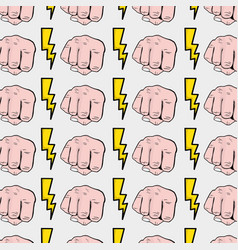 power hand protest strong background vector image