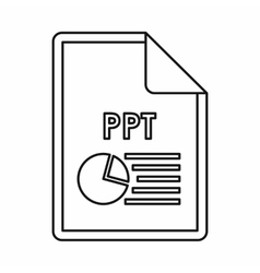 Ppt file extension icon icon outline style vector