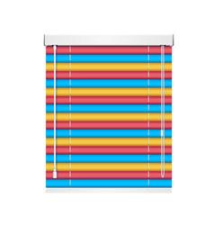realistic color window jalousie roller shutters vector image