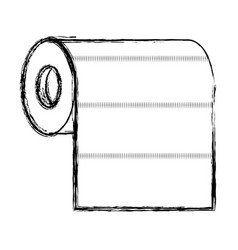 roll paper towel in monochrome blurred silhouette vector image