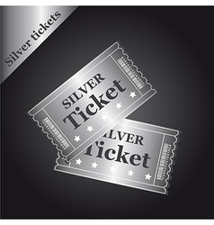 Silver tickets vector