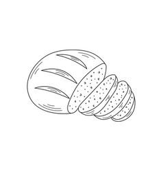 sliced bread vector image