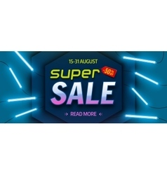 Super sale bright colourful banner vector image vector image