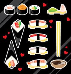 Sushi love vector