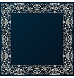Vintage border frame decor Baroque design with vector image