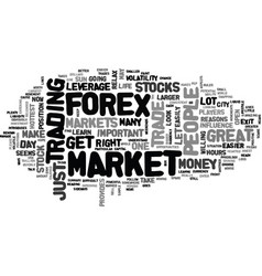 why forex is a great trade text word cloud concept vector image vector image
