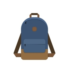 Backpack school bag vector