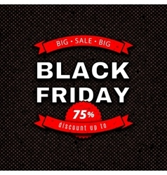 Black friday sale design template red white vector