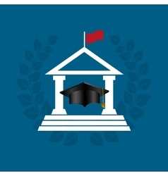 University emblem education icon vector