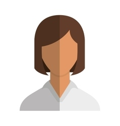 Woman female avatar line icon vector
