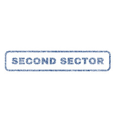 Second sector textile stamp vector
