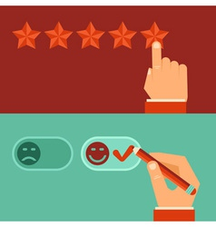Customer review concepts in flat style vector