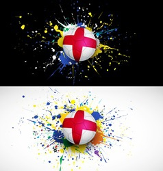 England flag with soccer ball dash on colorful vector