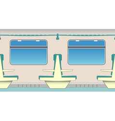Train seats vector