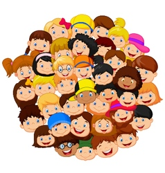 Crowd of children vector