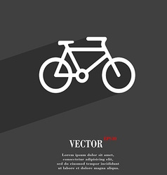 Bike icon symbol flat modern web design with long vector