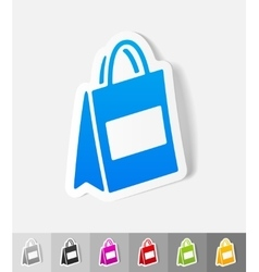 Realistic design element bag vector