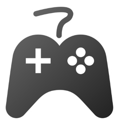 Game controller gradient icon vector