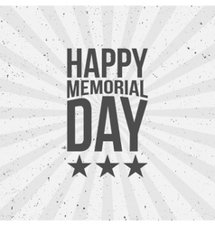 Happy memorial day text vector