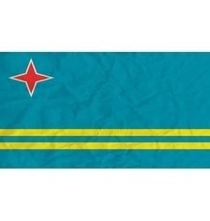 Aruba paper flag vector