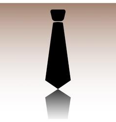 Black tie icon vector