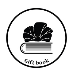Book with ribbon bow icon vector image